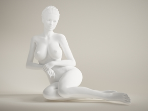 Long Leg Lady scale 1/10 023 in White Strong & Flexible Polished
