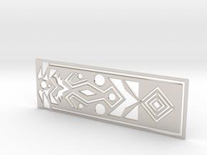 Geometry bookmark in Rhodium Plated Brass