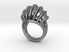 Ring New Way 14 - Italian Size 14 in Fine Detail Polished Silver