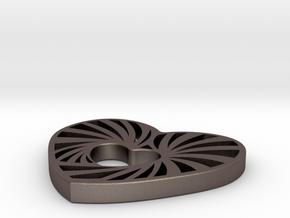 swirl in Polished Bronzed Silver Steel