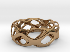 Bracelet Wave Cell Cycle in Polished Brass