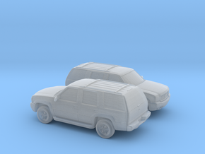 1/160 2X 1999-01 Cadillac Escalade in Smooth Fine Detail Plastic