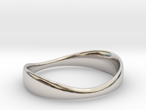 Silverflow Ring 16mm in Rhodium Plated Brass
