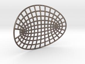 Hyperbolipse Keychain in Stainless Steel