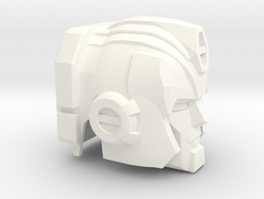 Hot Flame Convoy Head for Upgrade Armor in White Processed Versatile Plastic