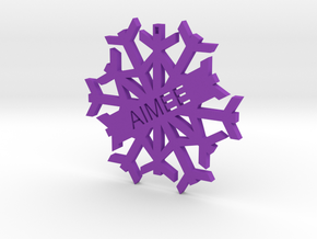 AIMEE Snowflake Christmas Tree Decoration in Purple Processed Versatile Plastic