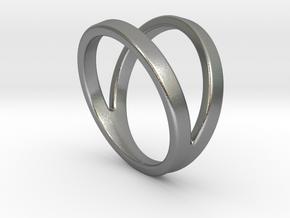 Split Ring Size US 9.5 in Natural Silver