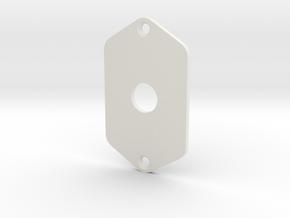 Jaguar Plate - 3 Way Switch in White Natural Versatile Plastic