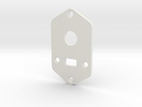 Jaguar Plate - 3 Way Switch + Slider Switch in White Natural Versatile Plastic