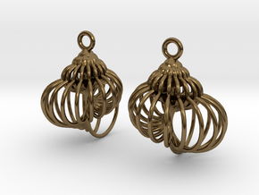 spiral shell-1 in Polished Bronze