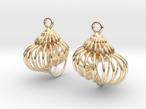 spiral shell-1 in 14k Gold Plated Brass