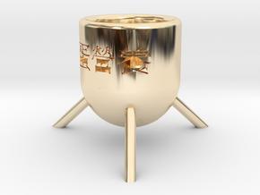 Egg Rack in 14k Gold Plated Brass