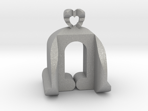 I♥U Shape 2 - View 3 in Aluminum