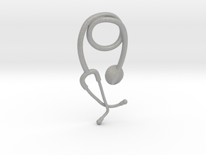 Stethoscope pendant in Aluminum