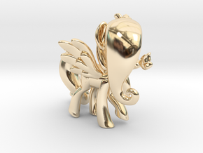 Fluttershy 1 Full Color - M1 in 14K Yellow Gold