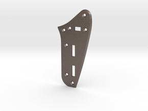 LH Jaguar Rhythm Circuit Plate  - Standard Bevel in Polished Bronzed Silver Steel