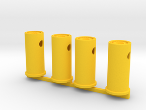 HO Scale Dually Equipment Wheels in Yellow Processed Versatile Plastic