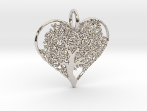 Let Your Love Grow pendant in Rhodium Plated Brass