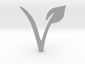 Vegan Symbol in Aluminum