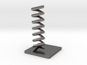 Triangular helix in Polished Nickel Steel