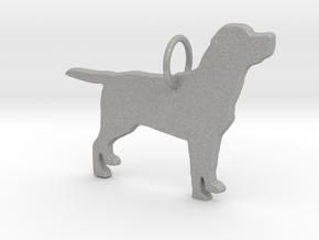 Labrador dog full body silhouette pendant  in Aluminum