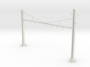 HO Scale PRR K Braced 4 Track Y BRACKET in White Natural Versatile Plastic