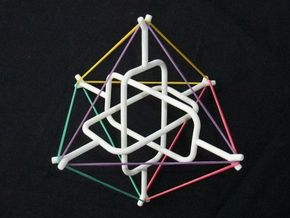 Borromean Tensegrity 1 in White Natural Versatile Plastic
