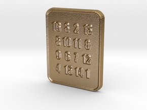 The Oracle's Seer Square Pendant for Lottery in Polished Gold Steel