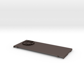 Nintendo New 3ds Coverplate Mushroom in Polished Bronzed Silver Steel