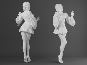 Skirt Girl-001-scale 1/32 in Smooth Fine Detail Plastic