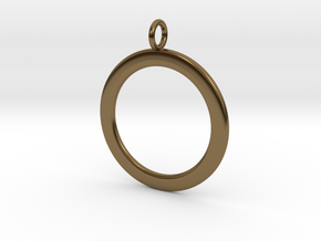 Ring-shaped pendant — smooth in Polished Bronze