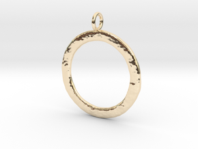 Ring-shaped pendant — rough in 14K Yellow Gold