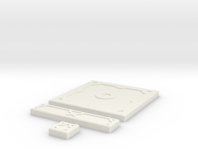 SciFi Tile 02 - Standard plate in White Strong & Flexible