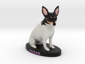Custom Dog Figurine - Sugar in Full Color Sandstone