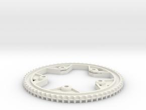 63T-11P centertrack beltwheel in White Natural Versatile Plastic