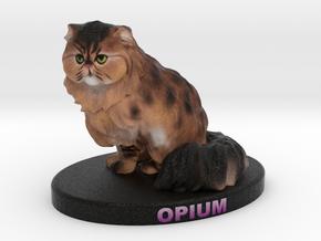 Custom Cat Figurine - Opium in Full Color Sandstone