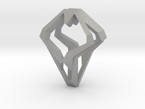 HEAD TO HEAD Open, Pendant in Aluminum
