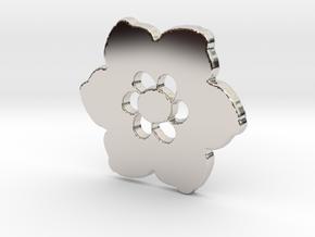 Happy Flower Pendant in Platinum