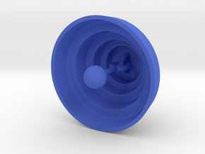 DRAW ornament - terraced dome bell with clanger in Blue Processed Versatile Plastic