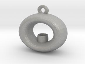 Candle Holder Pendant in Aluminum