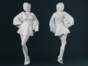 Skirt Girl-005 scale 1/24 in Smooth Fine Detail Plastic