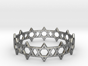 David Bracelet 73 in Fine Detail Polished Silver
