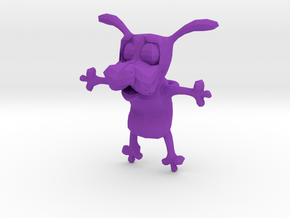 Courage the cowardly dog charm in Purple Processed Versatile Plastic