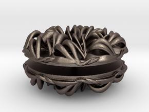 Lotus Mini Yoyo in Polished Bronzed Silver Steel
