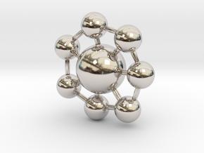 Ball Pendant in Rhodium Plated Brass