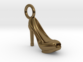 Heel Charm in Polished Bronze