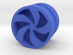 PINWHEEL_1814RS_RIGHT - LEGO-compatible Custom Rim in Blue Strong & Flexible Polished