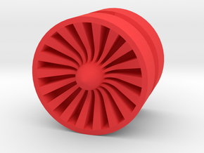 TURBINE_1814RS - LEGO-compatible Custom Rims in Red Strong & Flexible Polished