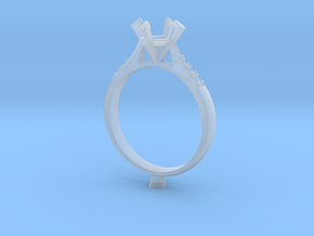 CC27-Engagement Ring Printed Wax. in Smoothest Fine Detail Plastic