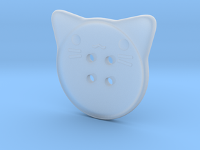 Cat Button in Smooth Fine Detail Plastic